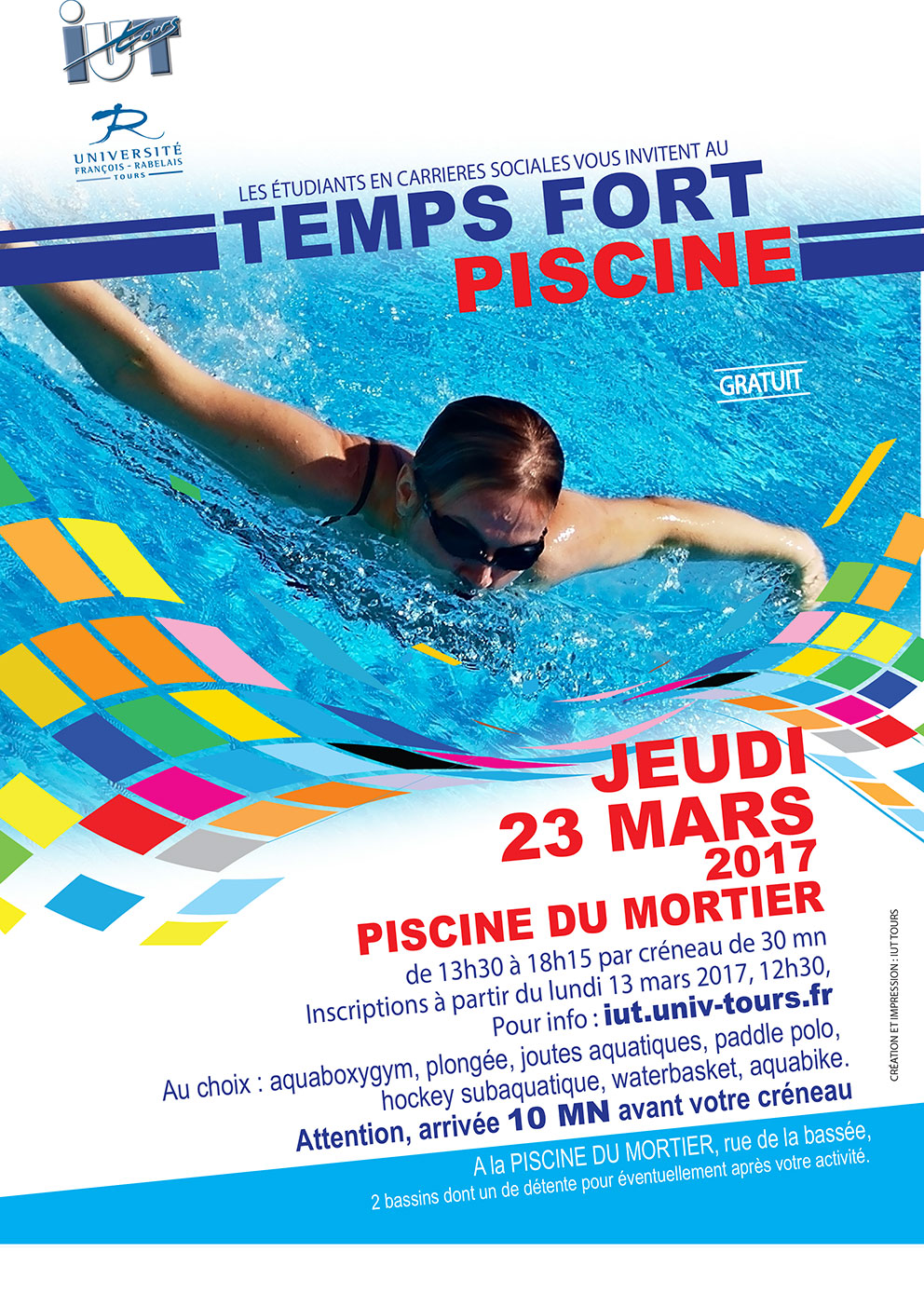 I u t de tours sport tf5 for Piscine mortier tours